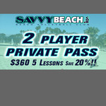 2 player private 5 lessons